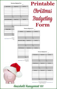 Free printable Christmas budgeting forms {on Household Management 101}