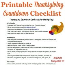 Thanksgiving countdown