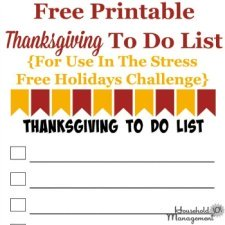 Thanksgiving to do list