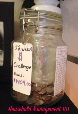 Connie, a Household Management 101 reader, took the 52 week money challenge. Will you?