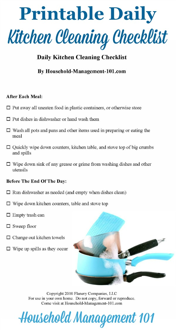 daily tasks checklist