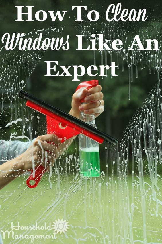 Step by step instructions for how to clean windows like an expert {on Household Management 101} #CleaningTips #CleaningHacks #SpringCleaning