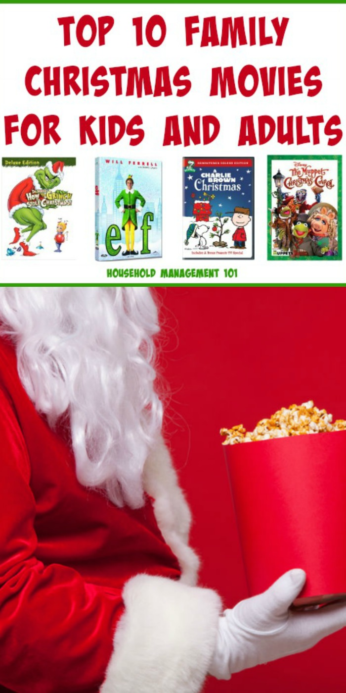 Top 10 Family Christmas Movies For Kids and Adults {on Household Management 101} #Christmas #MovieReviews #HouseholdManagement101