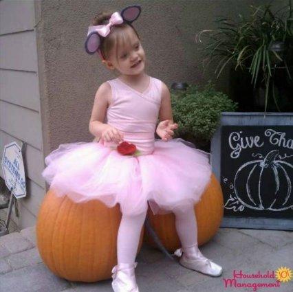 homemade Angelina ballerina costume