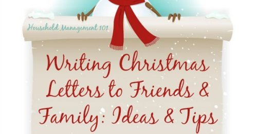 Writing Christmas letters to friends and family: ideas and tips {on Household Management 101} #Christmas #ChristmasLetters #ChristmasCard