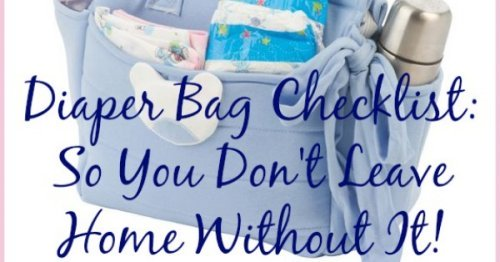 Free printable diaper bag checklist so you don't forget vital stuff in your child's diaper bag as you're leaving the house {courtesy of Household Management 101} #FreePrintable #DiaperBag #KidsOrganization
