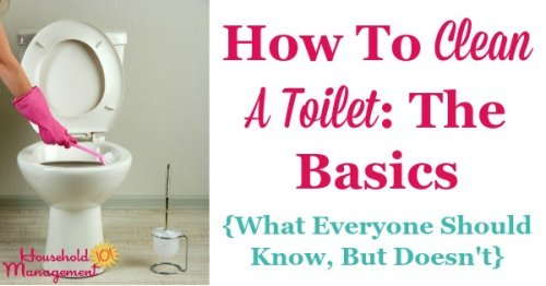 Basic instructions for how to clean a toilet, including what you should know about this process but perhaps don't {on Household Management 101}