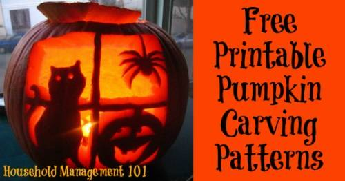 Printable pumpkin carving patterns and stencils you can use maxwellsz