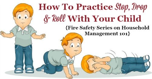 How to practice the technique of stop, drop and roll with your kids {part of the Fire Safety Series on Household Management 101}