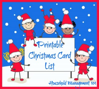 christmas card list printable plan who you ll send cards to this year