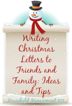 xmas card letter ideas for friends