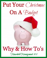 put your Christmas on a budget