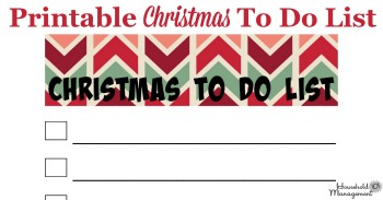 printable Christmas to do list