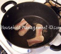 frying salt pork
