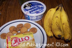 easy banana pudding recipe ingredients
