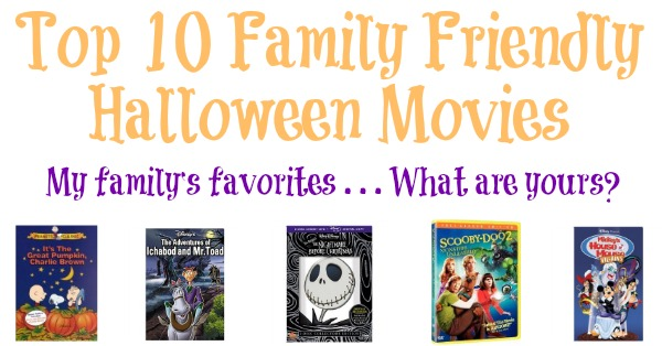 Here are kids' top 10 family Halloween movies, that are not too scary but still enjoyable for everyone {on Household Management 101}