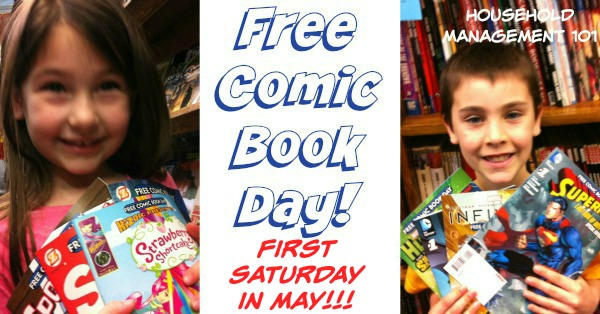 Free Comic Book Day - great free kids activity