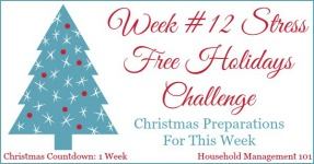 Stress Free Holidays Week 12