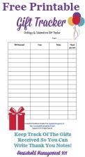 Holidays & Celebrations Gift Tracker