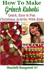 How to make Grinch Kabobs with your kids