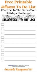 printable Halloween to do list