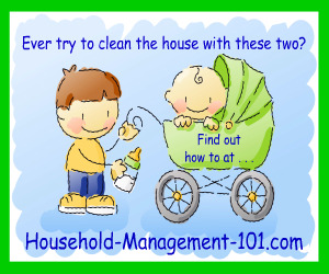 learn how to clean with kids