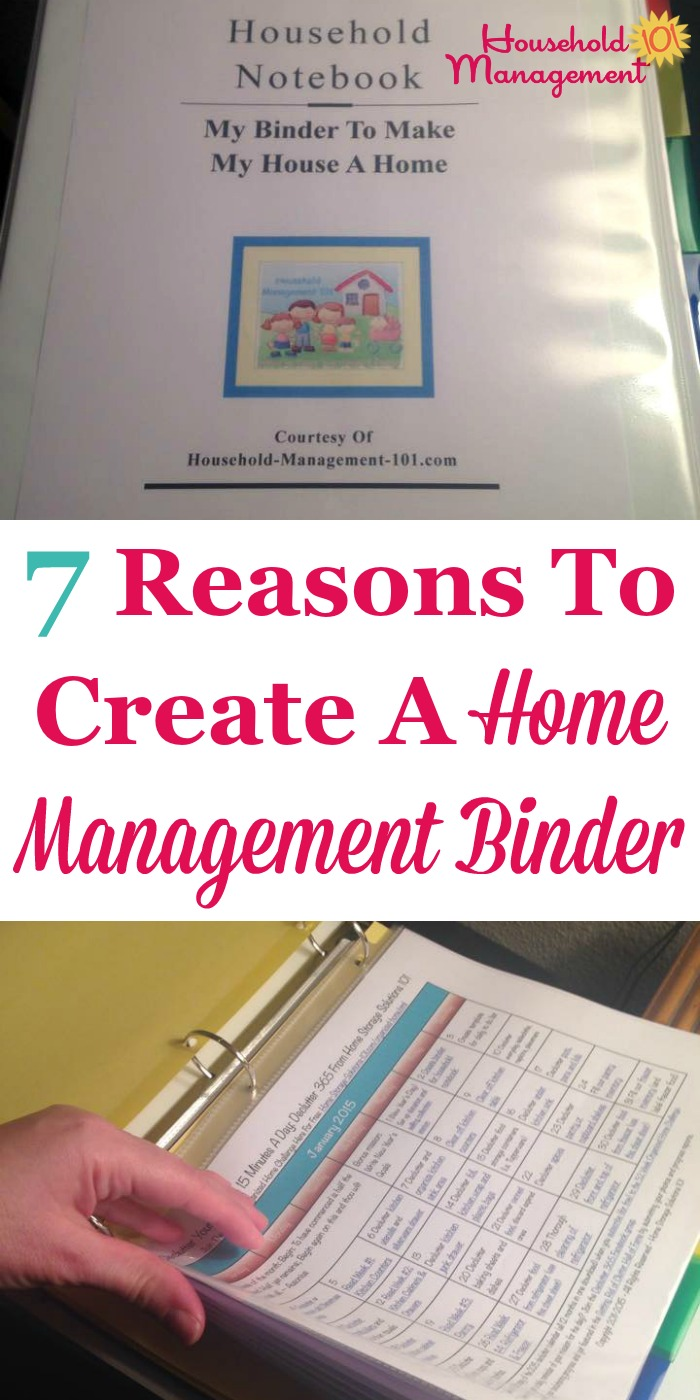 7 reasons to create a home management binder {on Household Management 101}
