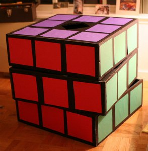 homemade rubix cube costume