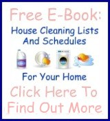 house cleaning lists and schedules