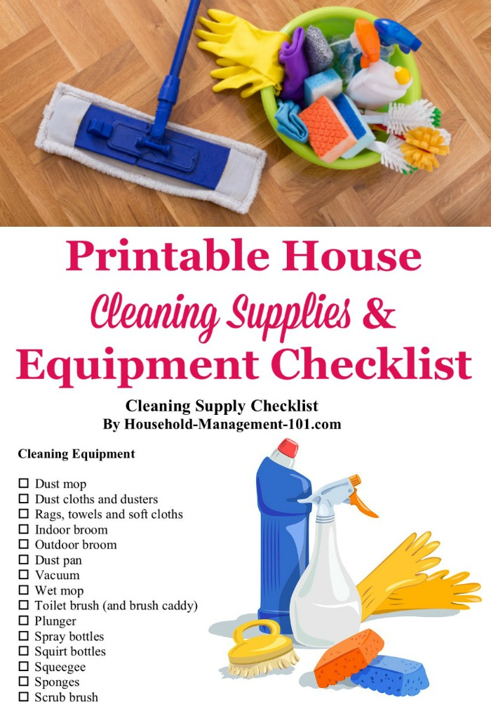 House Cleaning Supplies Equipment