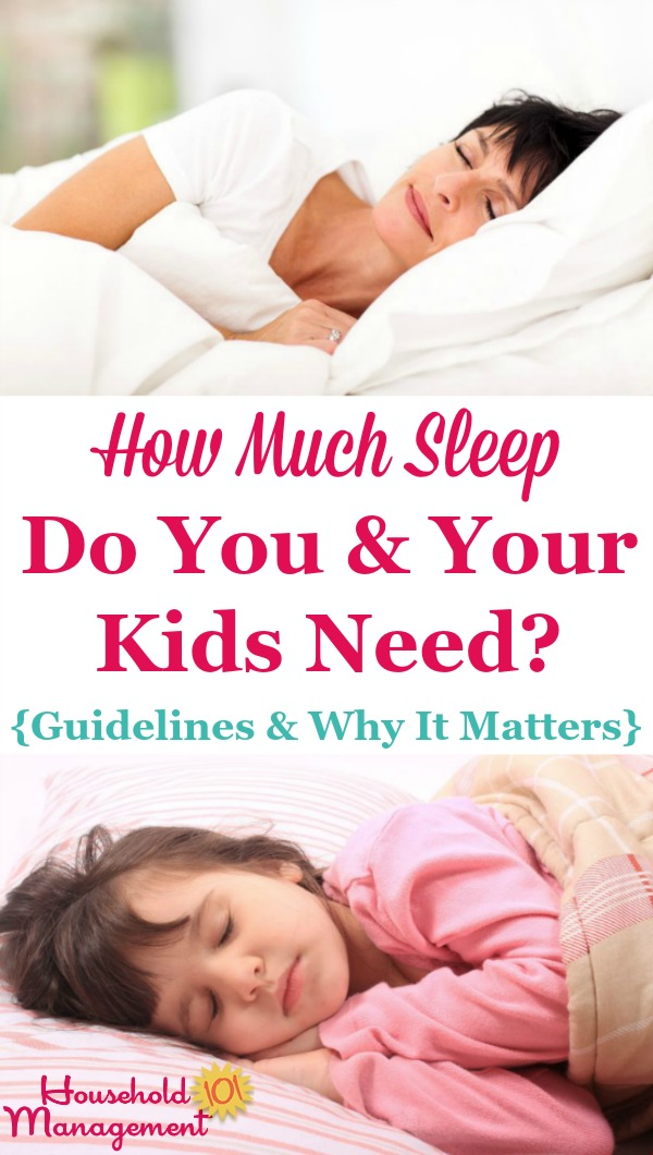 How much sleep do you your children need guidelines why it matters - Why you shouldnt take the trash out at night ...