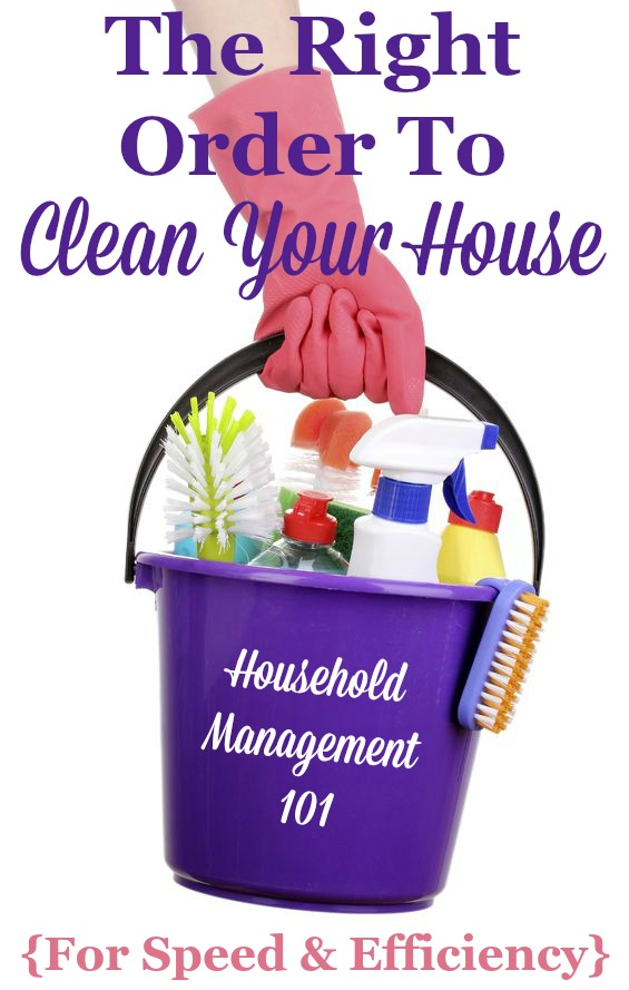 how to clean your house what order should you clean in
