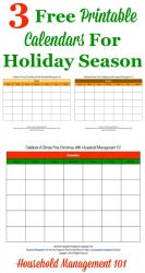3 free printable calendars for holiday season