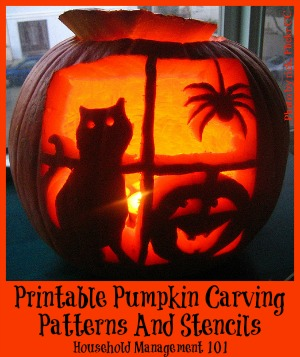 printable pumpkin carving patterns Pumpkin Carving Outlines Printable
