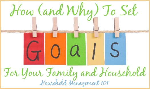 how and why to set goals for your family and household