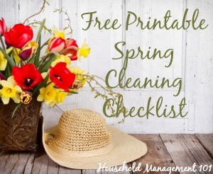 Free printable spring cleaning checklist {courtesy of Household Management 101}