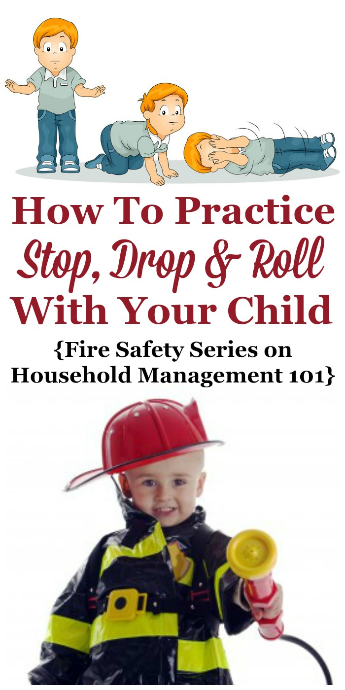 How to practice the technique of stop, drop and roll with your kids {part of the Fire Safety Series on Household Management 101} #StopDropAndRoll #FireSafetyTips #KidsFireSafety