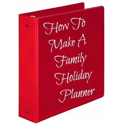 Create a holiday planner before the Stress Free Holidays Challenge begins