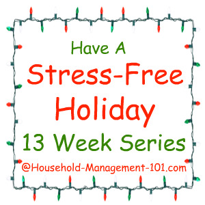 I'm joining this free 13 week series to get ready for the holidays of Halloween, Thanksgiving, Christmas, and New Years, plus clean up after each one {on Household Management 101}