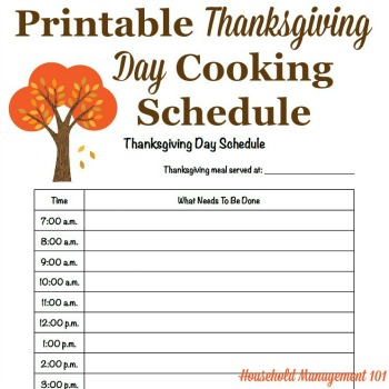 Thanksgiving day schedule