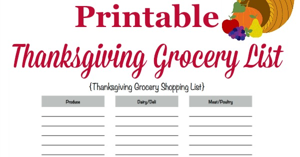 graphic about Thanksgiving Closed Sign Printable named Printable Thanksgiving Grocery Checklist Searching Record