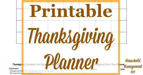 Get ready for a stress free #Thanksgiving holiday with this free Thanksgiving planner. It contains 6 printable forms to help you get yourself organized. {courtesy of Household Management 101} #ThanksgivingPlanner #ThanksgivingPrintables