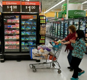 shopping in wal-mart
