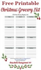 free printable Christmas grocery list