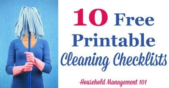 10 free printable cleaning checklists