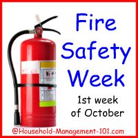 fire safety week at household management 101