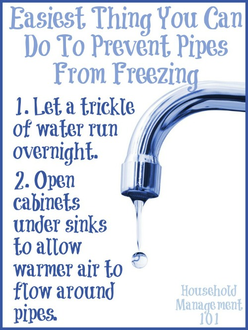 2 things you can do to prevent pipes from freezing
