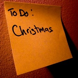christmas post it note