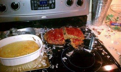 glass bakeware broken