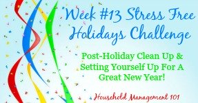 Stress Free Holidays Week 13